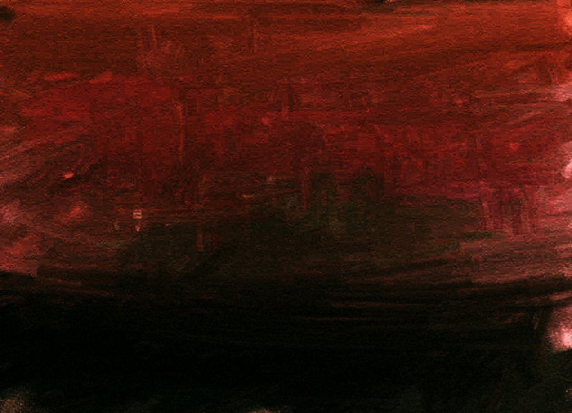 Blood-dimmed tide.  Painting by MK Hajdin